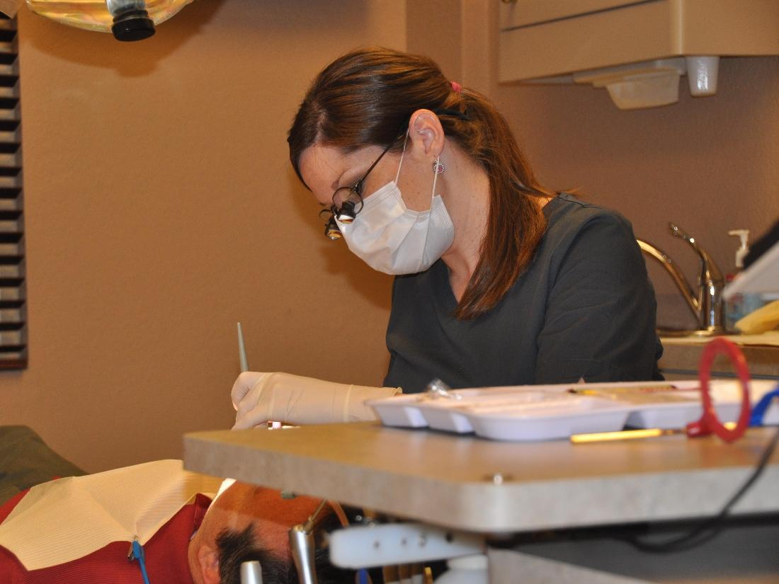 Hygienist at work